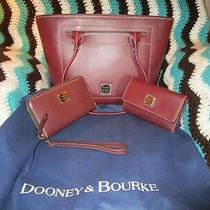 Dooney & Bourke Saffiano Leather 3 Pieces (Pursephone Clutch & 3 Fold Wallet Photo