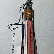 Dooney & Bourke Sammi Tassel Leather Key Ring Chain Fob Multi Color Purse Charm Photo