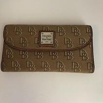 Dooney & Bourke Signature Checkbook Organizer Wallet. Photo