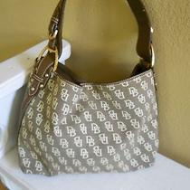 Dooney & Bourke Signature Cloth Handbag Sac Style Excellent Condition Photo