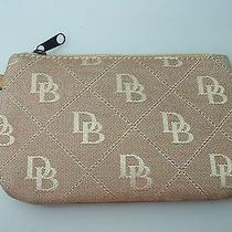 Dooney & Bourke Signature Gold Jacquard Small Bag Zip Top Mini Photo