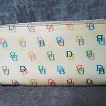 Dooney & Bourke Signature Ivory Rainbow Wallet Organizer W/rainbow Zipper Photo