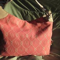Dooney &bourke Signature Pink Canvas Hobo Bag Photo