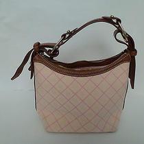 Dooney & Bourke Signature Pink Medium Hobo Handbag Photo