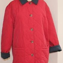 Dooney & Bourke Size 44 Red Quilted Barn Womens Jackets Photo