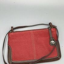 Dooney & Bourke Slim Zip Top Shoulder Bag 2-Way Clutch Red Photo