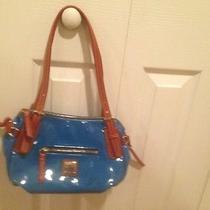 Dooney & Bourke Small Nina Blue Patent Bag Photo
