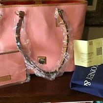 Dooney & Bourke Smooth Leather Pale Pink Brianna Shoulder Bag With Zipper Clutch Photo