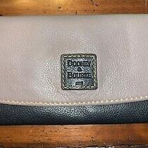 Dooney & Bourke Taupe/black Leather Clutch Wallet - Very Clean Photo