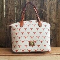 Dooney & Bourke Texas Longhorn Small Celeste Purse Bag White Orange Retail 248 Photo