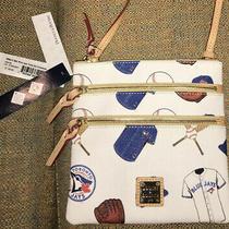 Dooney & Bourke Toronto Blue Jays Triple Zip Crossbody Messenger Bag Purse Nwt Photo