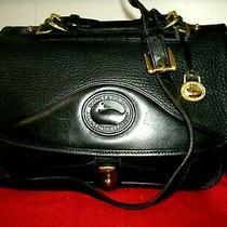 Dooney & Bourke Vintage All Weather Medium Black Pebbled Leather Crossbody Euc Photo