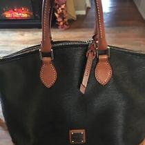 Dooney &bourke  Vintage Black and Brown Leather Pebbled Shoulder Bag 1975 Euc Photo