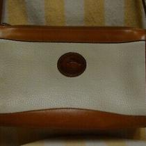 Dooney & Bourke / Vintage Crossbody All Weather Leather White Brown Purse Bag Photo