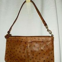 Dooney & Bourke Vintage Ostrich Mini Zip Top Shoulder Bag Purse Photo
