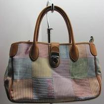 Dooney Bourke Watercolor Pastel Striped Tote Handbag Purse Shoulderbag Photo
