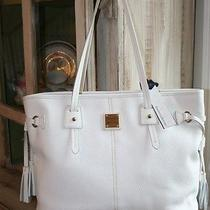 Dooney & Bourke White Leather Davis Tassel Tote Purse  Nwt Photo