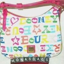 Dooney & Bourke White Multicolored Doodle Small Kiley Hobo Shoulder Bag Nwt 198 Photo