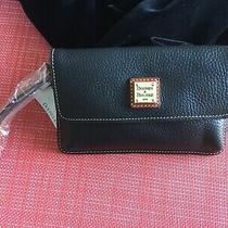 Dooney & Bourke Wristlet Wallet - Black Pebble Leather - Nwt Photo