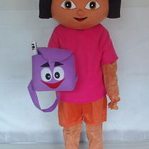 Dora Mascot Costume  Nice Model Fancy Dress  Foam Head Free Shipping to Us Photo