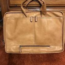 Dorado Express Scan Fan File Brief Columbian Leather Tan Travel Bag Excellent Photo