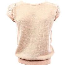 Dorothy Perkins New Women's Size 4 Blush Metallic Knit Crochet Lace Sweater 49 Photo