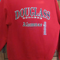 Douglas College Alumnae Red Sweatshirt Cotton Blend Size M Photo