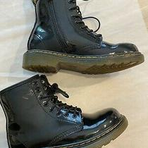 Dr Martin Boots Kids Patent Leather Size 2 Excellent Condition Photo