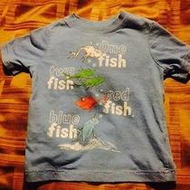 Dr Seuss Blue Toddler Boy Cat in the Hat One Fish Two Fish Shirt 18-24 Mos Photo