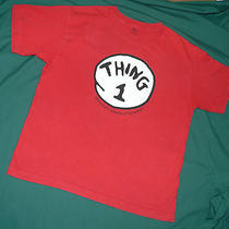 Dr Seuss Cat in the Hat Thing 1 T-Shirt Costume or Big Brother Sister Tee - L Photo