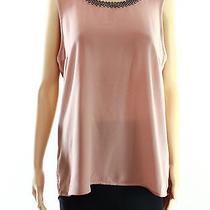 Dr2 New Solid Pink Blush Women's Size Medium M Beaded-Sequin Blouse 68- Deal Photo