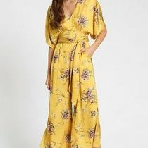 Dra Catania Satin Jumpsuit Yellow Size S Anthroplogie Reformation Christy Dawn Photo