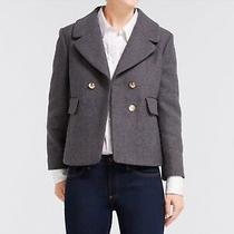 Draper James Campbell Short Coat Wool Blend Gray Sz 8 Photo