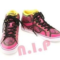 Draven Pink Yellow Prism Star High Top Flats Sneakers Running Hip Hop Kpop Shoes Photo