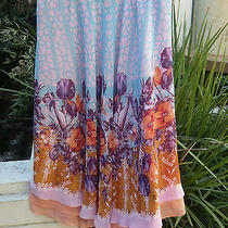 Dream Daily Anthropologie Nwot Stained Glass Garden Circle Skirt 178. Photo