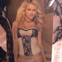Dreamgirl Corset Sexy 2 Pc Come With Thong Color Blush/ Black New With Tags  Photo
