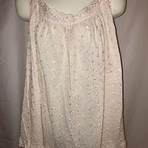 Dreams & Co Sleepwear Babydoll Nightgown Blush Pink Eyelet  Sz 2x Photo