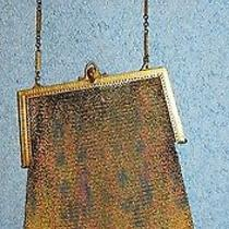 Dresden Mesh Fringe Purse - Chain Handle - Whiting & Davis Lot 60 Photo