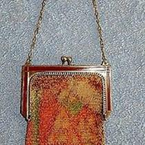 Dresden Mesh Fringe Purse - Unmarked - Chain Handle - Whiting & Davis Lot 18 Photo