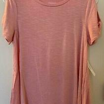 Dress Barn Blush Pink Cold Shoulder a-Line Tee Petite Small - New With Tags Photo