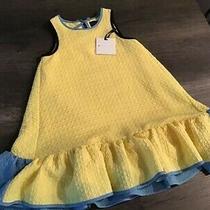 Dress Girls 5tvictoria Beckham Target Girls Yellow Blue Cloque Ruffle Dress Photo