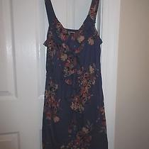 Dress - Sleeveless - Express - Purple Floral - Cotton - Sz Small Photo