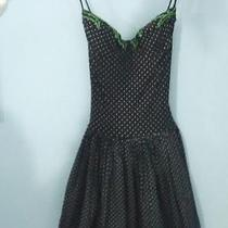 Dress Vintage Subsidiary of the Famous Gottex Small Size. Black Dress With White Photo