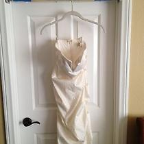 Dress White Wedding Prom Size 2 Womans Photo