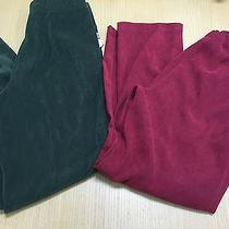 Dressbarns and Classic Element 2 Woman Pant Green and Red Burgundy Size 6 Petite Photo