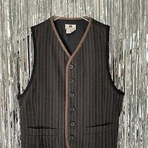 Dries Van Noten 90s Striped Vest Size 50 It Vintage Menswear Trim Suiting Photo