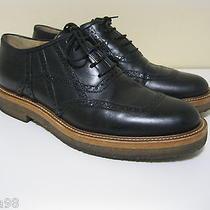 Dries Van Noten Black Leather Oxford Shoes / Gum Soles Eu Sz 40 U.s. Sz 7.5 Photo