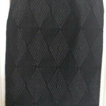 Dries Van Noten Black Wool Textured Pattern Skirt Size 38 (Uk 10) Vgc Photo