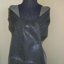 Dries Van Noten  Gray 100%  Cashmere / Sequins Double-Faced Scarf Nwt Photo