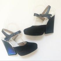 Dries Van Noten Metallic Semi Wedge Sandals Silver Women's Size 6 / It 36 Photo